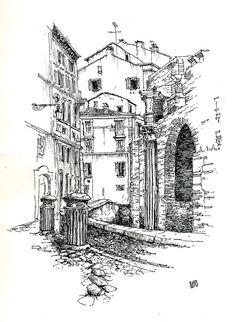 Arrière du Panthéon à Rome