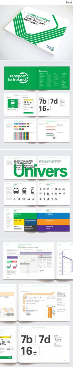 National Transport for Ireland integrated transport information graphics design…
