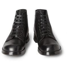 Dolce et Gabbana, leather derby boot