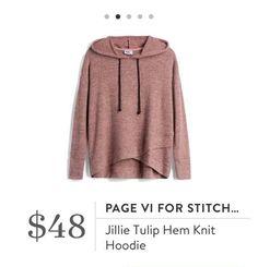 Stitch Fix: Page VI for Stitch Fix Jillie Tulip Hem Knit Hoodie $48