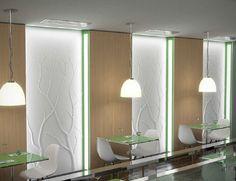 decorative 3D reinforced gypsum wall panel - ELM - ArchiExpo