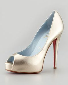 Christian Louboutin Vendome Metallic Platform Red Sole Pump on shopstyle.com