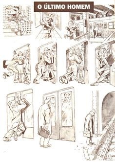 "[HQ] Will Eisner - Nova York : A vida na Grande Cidade.  Primeira Graphic novel: ""O Último Homem"". Will Eisner, Alternative Comics, Graphic Novel Art, Tinta China, Bd Comics, Comic Page, American Comics, Comic Artist, Manga Art"