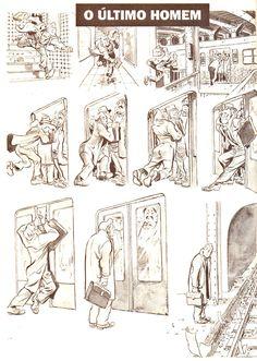 """[HQ] Will Eisner - Nova York : A vida na Grande Cidade.  Primeira Graphic novel: """"O Último Homem""""."""