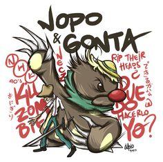 Nopo y Gonta, cazadores de zombies http://be.net/jupio