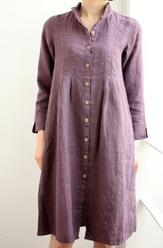 first date outfit Linen Dresses, Casual Dresses, Casual Outfits, I Dress, Shirt Dress, Quoi Porter, Donia, Long Summer Dresses, Kurta Designs