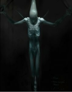 Official concept art for the Deacon in PROMETHEUS