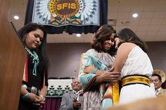 """""""Hold fast to your goals and push through any obstacles that may come your way."""" —The First Lady Michele Obama to the Class of 2016 at Santa Fe Indian School in New Mexico."""