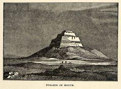 1904 Print Pyramid Medum Meidum Step Fake Sneferu Egypt Limestone Desert XHA4