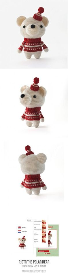 Pjotr the Polar Bear amigurumi pattern