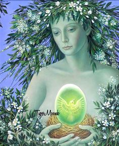 Eostre / Ostara ~ Germanic pagans named the Spring Equinox after Ostara, their goddess of spring, fertility, and rebirth. Description from pinterest.com. I searched for this on bing.com/images