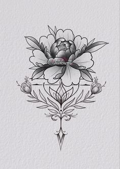 Family Tattoo Designs, Family Tattoos, Floral Tattoo Design, Flower Tattoo Designs, Dots To Lines, Mandala Flower Tattoos, Rose Tattoos, Rose Design, Tattoo Sketches