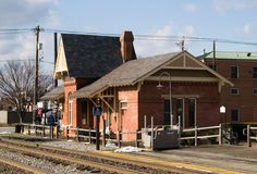 GAITHERSBURG, MD: Historic train station in Olde Town Gaithersburg