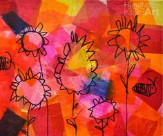 Tissue Paper Flower Collage