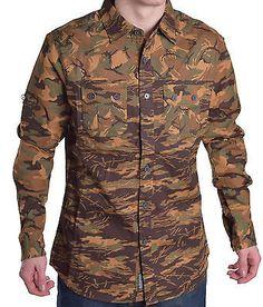 Ecko Unltd. Men's Multiple Camo Woven Button Up Shirt