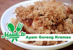 CoolWow Ayam Goreng Kremes - Crunch Fried Chicken Recipe   Resep #156 Check more at https://epicchickenrecipes.com/fried-chicken-recipe/ayam-goreng-kremes-crunch-fried-chicken-recipe-resep-156/