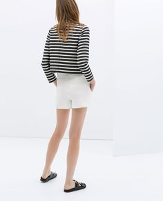 Image 5 of HIGH WAIST SHORTS from Zara
