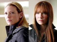 Parallel universes provide fodder for the writers as well as opportunities for Fringe's actors. Anna Torv plays both the heroic special agent Olivia Dunham and her sinister red-headed doppelgí¤nger, Fauxlivia. Anna Torv, Hair A, Her Hair, Celebrity Gossip, Celebrity News, Fringe Olivia, Fringe Tv Series, Walter Bishop, Science Fiction