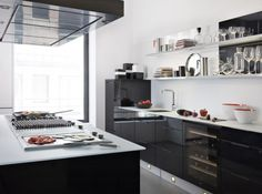 Cuisine design noir darty