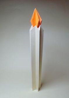 Оригами схема свечи