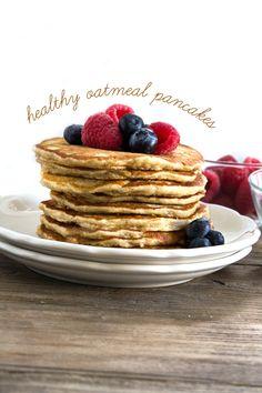Healthy Oatmeal Gluten Free Pancakes www.PersonalTrainerBradenton.com