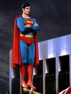 Super Seventies - Christopher Reeve as Superman, Supergirl Superman, Superman Movies, Superman Family, Superhero Movies, Batman And Superman, Superman Photos, Superman Stuff, Superman Actors, Dc Comics