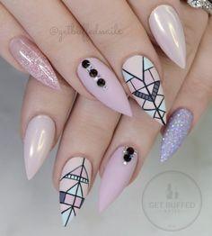 Stiletto Nails Designs Trendy for 2019 Crazy Nails, Love Nails, Fun Nails, Crazy Nail Art, Gorgeous Nails, Pretty Nails, Stiletto Nail Art, Coffin Nails, Modern Nails