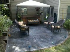 Cement Ideas For Backyard outdoor living Patio Concrete Stain Design Ideas Pictures Remodel And Decor