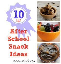 Easy After School Snack Ideas. Because you know they're starving when they get off the bus. Be ready for back to school snack attacks the kids will love!