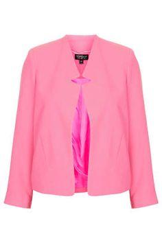 Crepe Notch Front Jacket