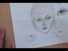 Art Shed Angel - Learn to draw simple faces for your art journals - YouTube