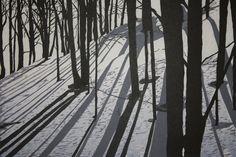 Silhouettes Woodblock print. $400.00, via Etsy.