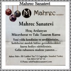 Mahrec Sanatevi Agos gazetesinde. www.mahrecsanatevi.com