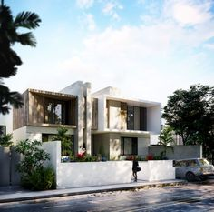 Townhouse Exterior, Modern Townhouse, Townhouse Designs, Villa Design, Facade Design, Exterior Design, Duplex House Design, House Front Design, Minimal House Design