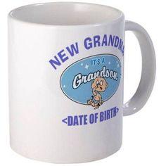 Cafepress Personalized New Grandma (Birth Date) Mug, Multicolor