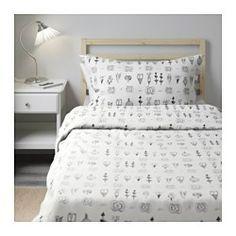 IKEA - SISSELA, Housse de couette et taie, 150x200/65x65 cm,