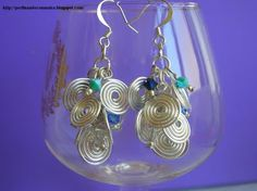 Perlinando ... Come fare delle spirali in alluminio e realizzare questi graziosi #orecchini (tecnica #wire  link video youtube)