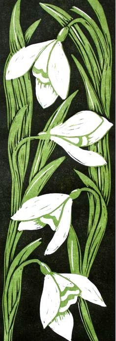 Carved printblock flowers