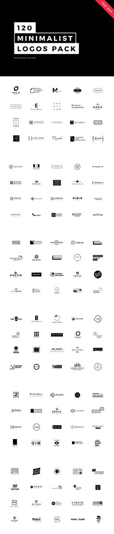 120 Minimalist Logos Pack by vuuuds