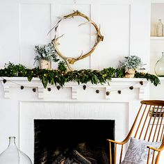 Western wonderland holiday mantle |  Unleash all your cabin fantasies with a lush woodland scene.