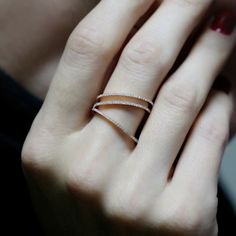 """Side V Illusion"" Ring - Plukka - Shop Fine Jewelry Online"
