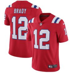 317a682e6 Men s New England Patriots  12 Tom Brady Nike Red Vapor Untouchable Limited  Player Jersey latest