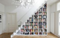 Funny pictures about Under stairs bookcase. Oh, and cool pics about Under stairs bookcase. Also, Under stairs bookcase photos. Staircase Bookshelf, Bookshelf Storage, Bookshelf Design, Bookshelves Built In, Stair Storage, Staircase Design, Bookshelf Ideas, Library Shelves, Book Storage