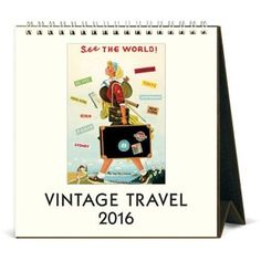 See the world with these playful vintage travel images. Watch a bullfight in Spain, admire the Hong Kong cityscape, relax on the Riviera and enjoy other far-off adventures every month. $12.95