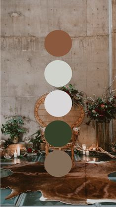 For The Good Weddings and Events Colour Pallette, Color Palate, Colour Schemes, Room Colors, House Colors, Colours, Cement Color, Colorful Decor, Bedroom Decor