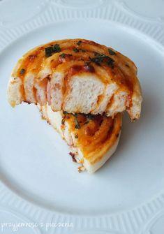 Przyjemność z pieczenia: Pizza zawijana - ślimaczki Sandwiches, Pizza, Food And Drink, Recipes, Blog, Fit, Finger Sandwiches, Rezepte, Recipies