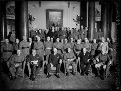 1935, Banquete a Lerroux en el Casino Militar, Madrid, por Luis Ramón Marín. El militar sentado al lado de Lerroux -en el centro - es ¡Franco!