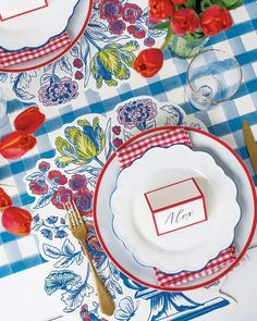 Hester & Cook China Blue Table Setting Decor Collection and Matching Items & Matching Items Blue Table Settings, Place Settings, Table Setting Design, Beautiful Table Settings, Paper Table, Striped Table Runner, Red Kitchen, Leaf Table, Blue China