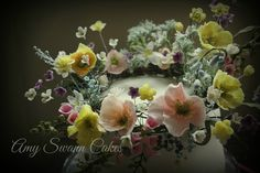gumpaste foliage and flowers by Amy Swann Cakes