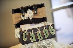 Clothespins, letters, and ribbon = PERFECTION